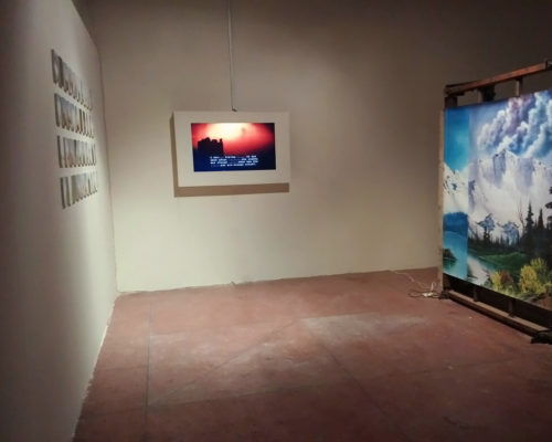 The Installation included a machine, photo series and a video interview